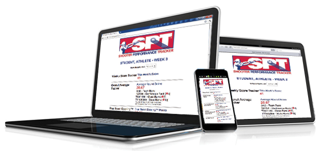 Athletes can view scores and rankings from their Shooter Performance Tracker® on their computer, phone or tablet devices.