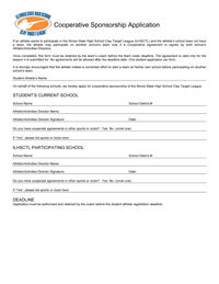 ILSHSCTL Cooperative Form